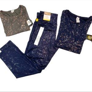 Women's High-Waisted Foil Print Leggings NWT